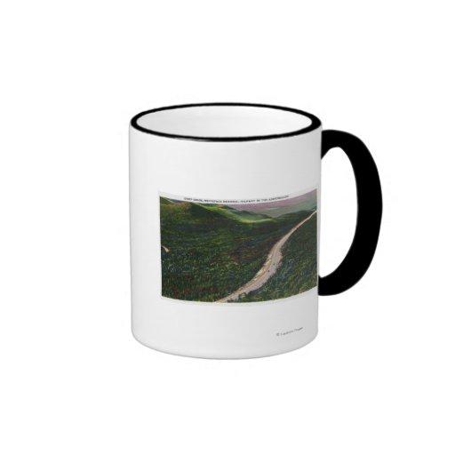 View of a Steep Grade on Memorial Hwy Coffee Mug