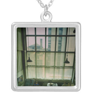 View of a studio, built 1897-99 silver plated necklace