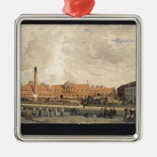 View of a Sugar Factory Christmas Ornament