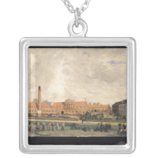 View of a Sugar Factory Silver Plated Necklace