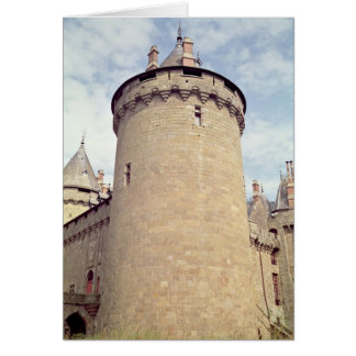 View of a tower of the chateau card