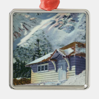 View of a US Forest Service Ski Shelter Christmas Ornament