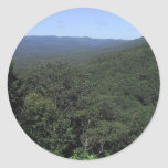 View Of A Valley From An Overlook Classic Round Sticker
