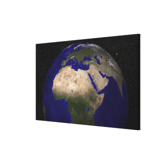 View of Africa, Europe, the Middle East, and In Canvas Print