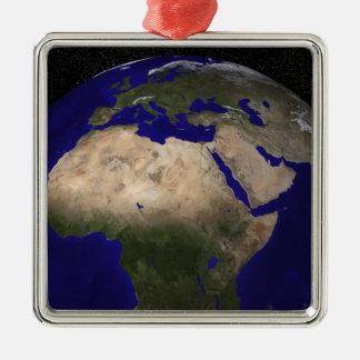 View of Africa, Europe, the Middle East, and In Christmas Ornament