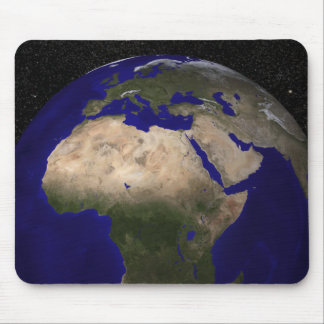 View of Africa, Europe, the Middle East, and In Mouse Pad