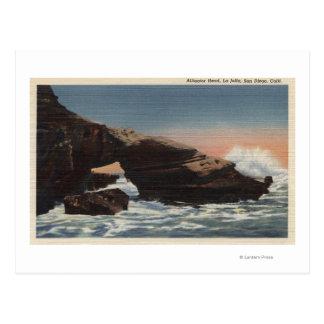 View of Alligator Head, La Jolla Postcard