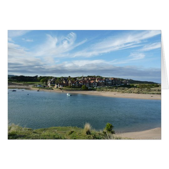 """""""View of Alnmouth from Hill"""" Card"""