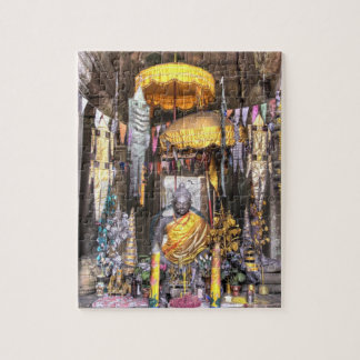 View of altar area inside Buddhist temple, Jigsaw Puzzle