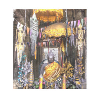 View of altar area inside Buddhist temple, Notepad
