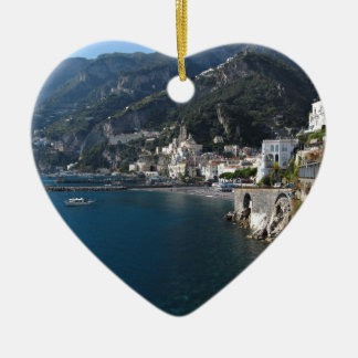 View of Amalfi coast Christmas Ornament