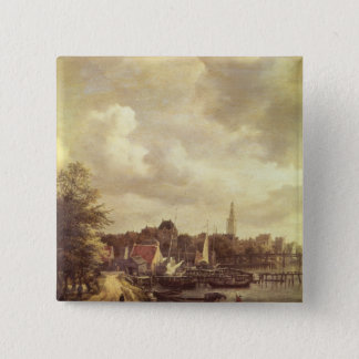 View of Amsterdam 15 Cm Square Badge