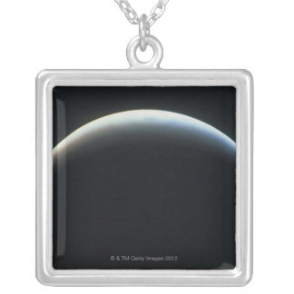 View of an Eclipse Silver Plated Necklace