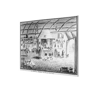 View of an Italian kitchen at Lerici Canvas Print