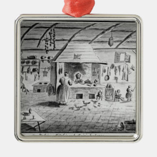 View of an Italian kitchen at Lerici Christmas Ornament
