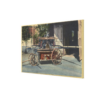 """View of an """"Old Papeete"""" Engine Canvas Print"""