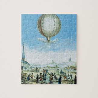 View of Annonay in Vivarais and the first flight o Jigsaw Puzzle