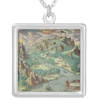 View of antique Thessaly from the 'Atlas Silver Plated Necklace