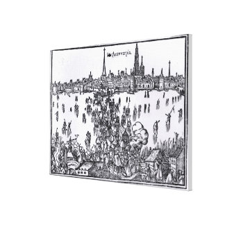 View of Antwerp Canvas Print