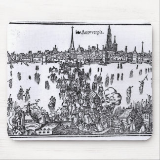View of Antwerp Mouse Mat