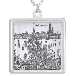 View of Antwerp Silver Plated Necklace