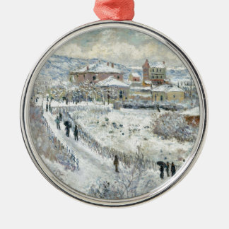 View of Argenteuil in the Snow by Claude Monet Christmas Ornament
