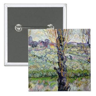 View of Arles, 1889 15 Cm Square Badge