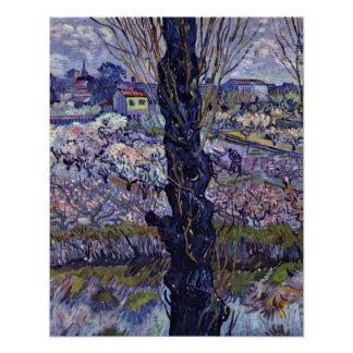 View of Arles by Vincent Willem van Gogh Poster