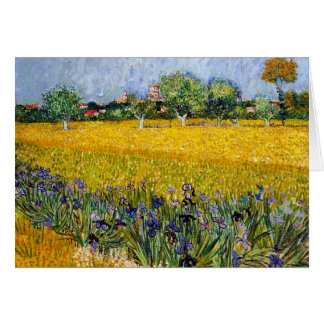 View of Arles with Irises Vincent van Gogh paint Card