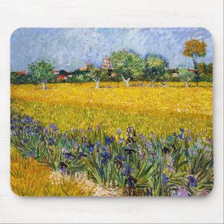 View of Arles with Irises Vincent van Gogh paint Mouse Mat