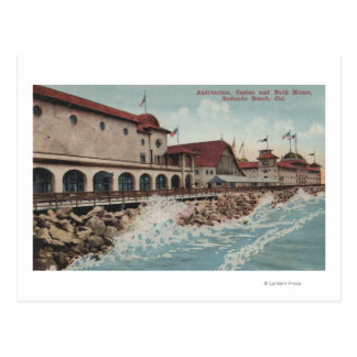 View of Auditorium, Casino, & Bath House Postcard