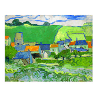 View of Auvers Van Gogh Fine Art Postcard