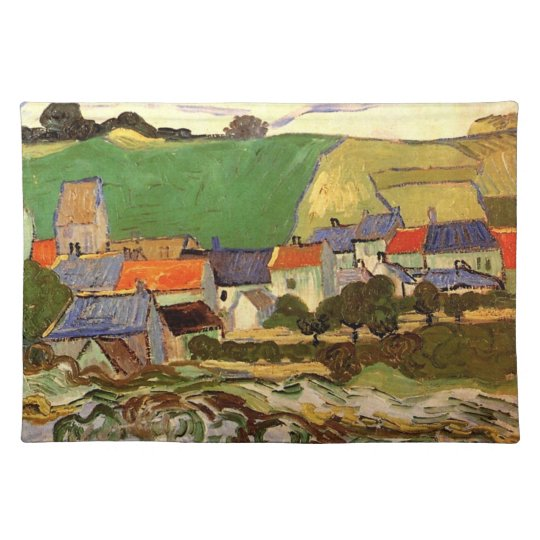 View of Auvers Vincent van Gogh. Place Mat