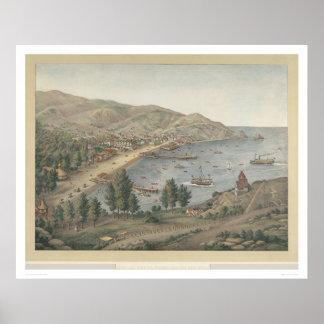 View of Avalon Harbor, Santa Catalina Island(1211) Poster
