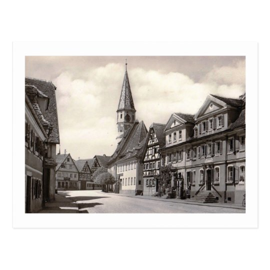 View of Bad Windsheim, Bavaria, Germany Vintage Postcard