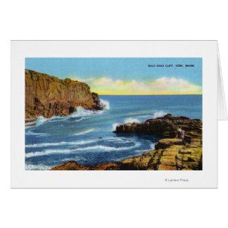 View of Bald Head Cliff at York Beach Card