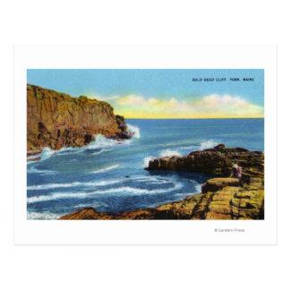 View of Bald Head Cliff at York Beach Postcard