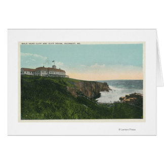 View of Bald Head Cliff & Exterior of Cliff Hous Greeting Card