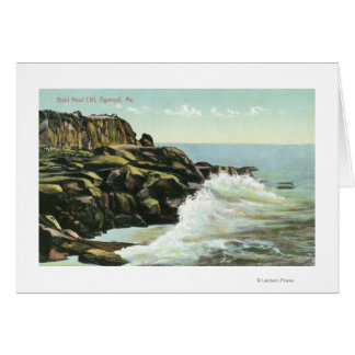 View of Bald Head Cliff Greeting Card