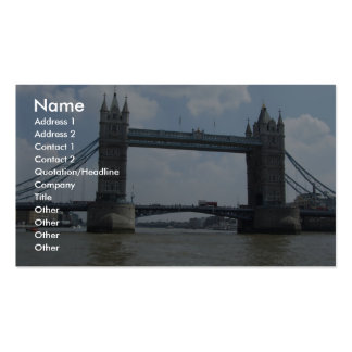 View Of Beautiful London Bridge On River Thames Business Cards