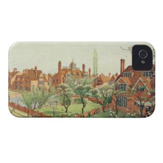 View of Bedford Park, 1882 (colour litho) 2 Case-Mate iPhone 4 Case