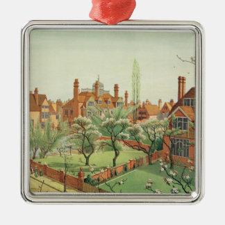 View of Bedford Park, 1882 (colour litho) 2 Christmas Ornament