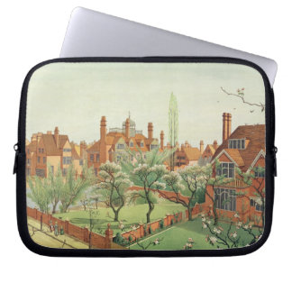 View of Bedford Park, 1882 (colour litho) 2 Laptop Sleeve