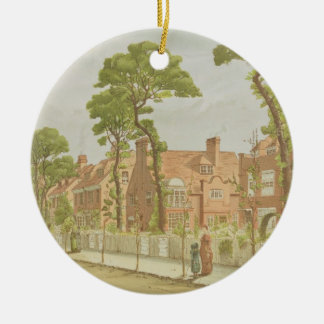 View of Bedford Park, 1882 (colour litho) Christmas Ornament