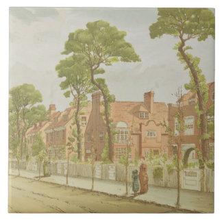 View of Bedford Park, 1882 (colour litho) Tile