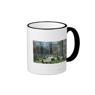 View of Ben Franklin's Tombstone Mugs