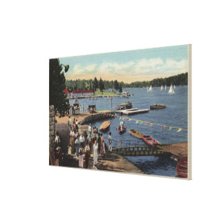View of Boat Landing, Bathing Cove Canvas Print