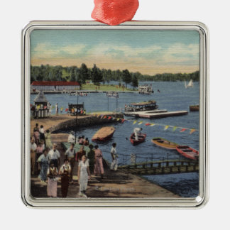 View of Boat Landing, Bathing Cove Christmas Ornament