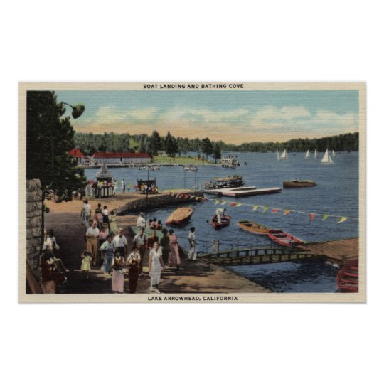 View of Boat Landing, Bathing Cove Poster