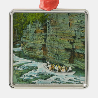View of Boat Starting Down the Flume Christmas Ornament